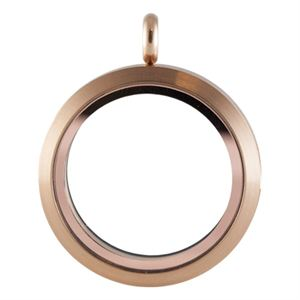 Picture of Large Matte Rose Gold Locket